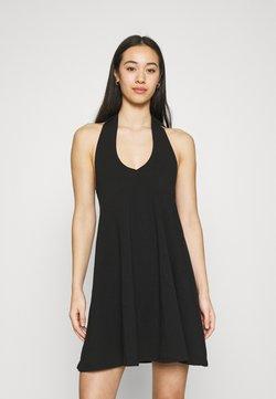 NA-KD - HALTERNECK DRESS - Vestido ligero - black
