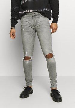Topman - BLOWOUT SPRAY - Slim fit jeans - grey