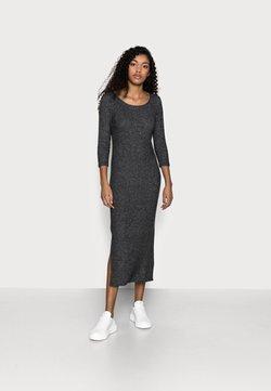 Dorothy Perkins Petite - 3/4 SLEEVE BRUSHED MIDI DRESS - Vestido de punto - charcoal