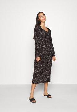 Missguided - MILKMAID MIDI DRESS DITSY - Day dress - black