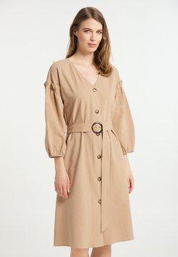 usha - Vestido camisero - kamel