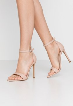 Lost Ink - POINTED BARELY THERE  - Sandalen met hoge hak - nude