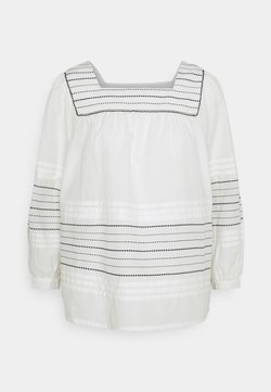 Marks & Spencer London - PINTUCK DOBBY - Bluse - white