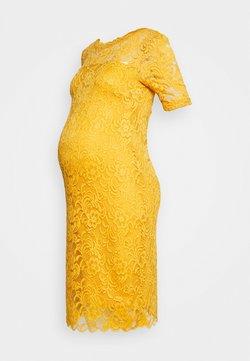 MAMALICIOUS - MLMIVANA BACK DRESS - Cocktail dress / Party dress - chinese yellow