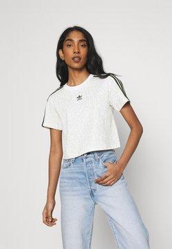 adidas Originals - LEOPARD CROPPED TEE - T-Shirt print - multco/white/talc