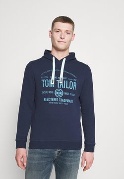 TOM TAILOR - HOODIE  - Felpa con cappuccio - real navy blue
