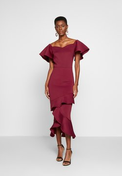 True Violet Tall - BARDOT MIDI DRESS - Vestido de cóctel - dark red