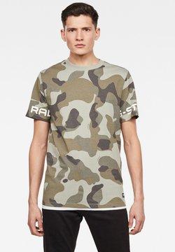 G-Star - CAMO GSTAR - T-Shirt print - lt orphus birch camo