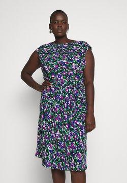 Lauren Ralph Lauren Woman - CAP SLEEVE CASUAL DRESS - Freizeitkleid - black multi