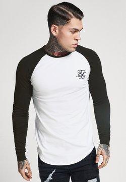 SIKSILK - RAGLAN LONG SLEEVE - Langarmshirt - black/white