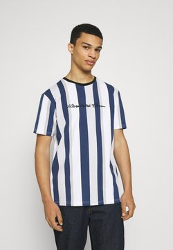 Kings Will Dream - REPTON STRIPE TEE - T-Shirt print - navy/grey/white