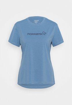 Norrøna - TECH - Print T-shirt - coronet blue