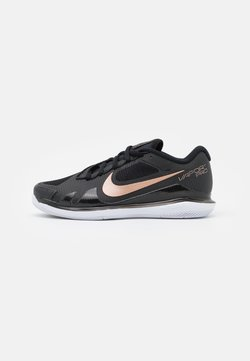 Nike Performance - COURT AIR ZOOM VAPOR PRO - All court tennisskor - black/metallic red bronze/white