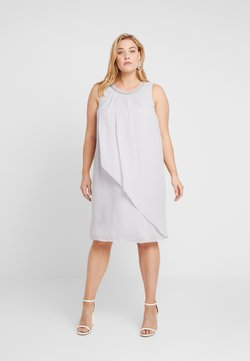 Dorothy Perkins Curve - BILLIE AND BLOSSOM EMBELLISHED TRAPEZE DRESS - Cocktail dress / Party dress - light grey