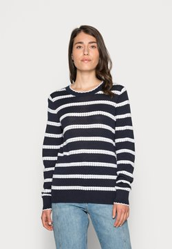 edc by Esprit - CORE SWEATER - Strickpullover - navy