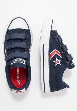 Converse - STAR PLAYER EMBROIDERED - Matalavartiset tennarit - obsidian/university red/white