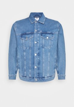Calvin Klein Jeans Plus - PRIDE PLUS GRAPHIC JACKET - Veste en jean - denim medium