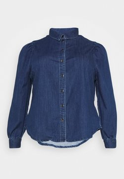 ONLY Carmakoma - CARNADA LIFE SHIRT - Skjorta - dark blue denim