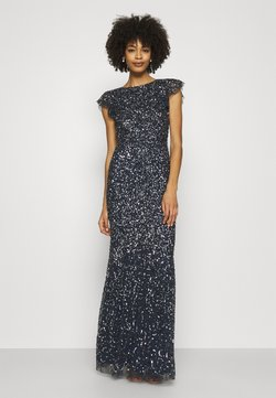 Maya Deluxe - ALL OVER SEQUIN WITH FLUTTER SLEEVE - Suknia balowa - navy