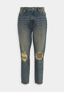 Missguided Plus - DISTRESSED TURN UP - Relaxed fit jeans - blue