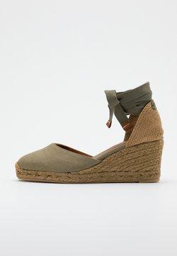 Castañer - CARINA  - Kiilakorkosandaali - verde kaki