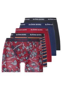 Björn Borg - FLEURS JARDIN SHADELINE 5PACK - Panties - beet red
