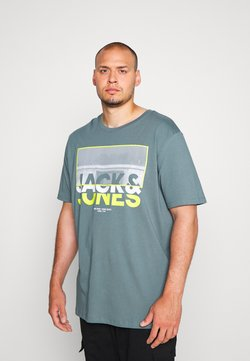 Jack & Jones - JCOTUNEL TEE CREW NECK - T-shirt imprimé - north atlantic