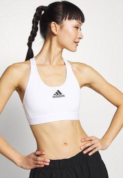 adidas Performance - DESIGNED4TRAINING WORKOUT BRA MEDIUM SUPPORT - Urheiluliivit - white