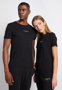Tommy Hilfiger - LOGO TEE UNISEX - T-Shirt print - black