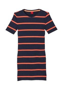 s.Oliver - JURK - Strickkleid - dark blue stripes