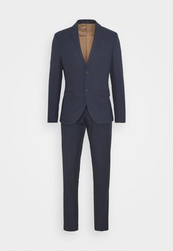 Isaac Dewhirst - CHECK SUIT - Puku - dark blue