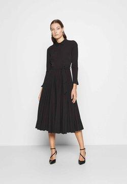 Closet - PLEATED SHIRT DRESS - Vestido camisero - black