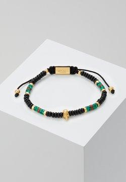 Northskull - SKULL MACRAMÉ BRACELET - Bracelet - black/gold-coloured