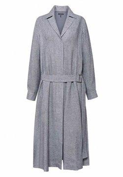 Hexeline - SUKIENKA Z KOŁNIERZEM O PROSTYM KROJU - Sukienka koszulowa - szarości