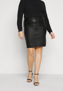 ONLY Carmakoma - CAREMILIA ROCK COATED SKIRT - Minirock - black