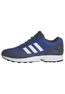 adidas Originals - ZX FLUX SHOES - Sneaker low - grey/ white/blue