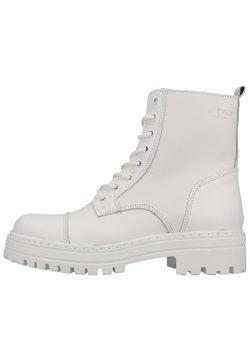 Steven New York - Nauhalliset nilkkurit - white leather 107