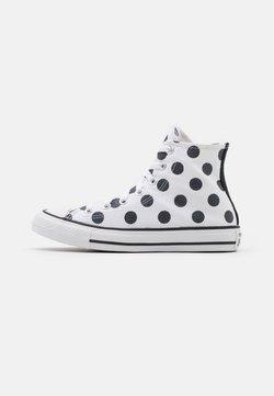 Converse - CHUCK TAYLOR ALL STAR POLKA DOT GLITTER - Sneakersy wysokie - white/black