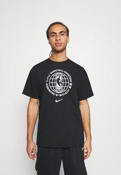 Nike Performance - NBATEAM GLOBAL EXPLORATION TEE - T-shirt imprimé - black