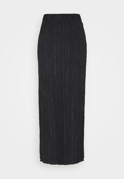Object Tall - OBJTILIA LONG SKIRT  - Jupe crayon - black