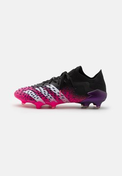 adidas Performance - PREDATOR FREAK .1 L FG - Botas de fútbol con tacos - core black/footwear white/shock pink