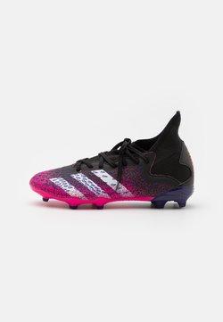 adidas Performance - PREDATOR FREAK .3 FG UNISEX - Chaussures de foot à crampons - core black/footwear white/shock pink