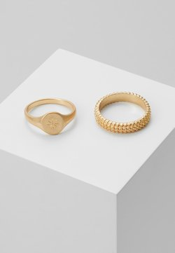 Topman - BOBBLE RING AND SIGNET 2 PACK - Ring - gold-coloured
