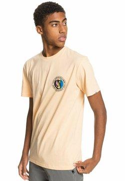 Quiksilver - MELLOW PHONIC  - T-shirt z nadrukiem - apricot