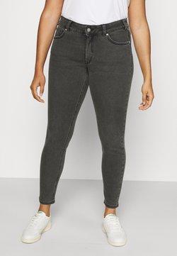MY TRUE ME TOM TAILOR - USED LOOK - Jeans Skinny - dark stone black denim