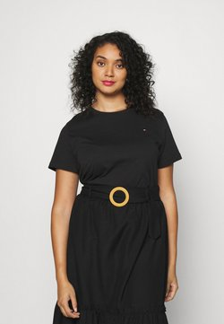 Tommy Hilfiger Curve - NEW CREW NECK TEE - T-shirts - black