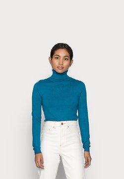 Vero Moda Petite - VMHAPPINESS ROLLNECK   - Strickpullover - mykonos blue