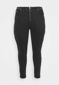 Calvin Klein Jeans Plus - HIGH RISE ANKLE - Jeans Skinny - grey denim