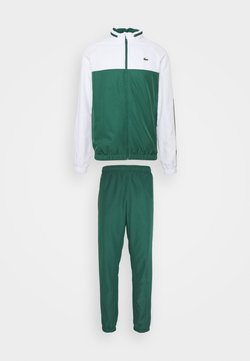 Lacoste Sport - TRACK SUIT - Chándal - bottle green/white/black