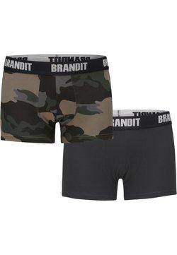Brandit - 2 PACK - Shorty - darkcamo/blk